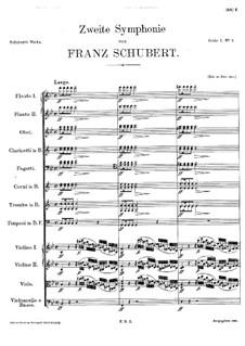 Симфония No.2 си-бемоль мажор, D.125: Часть I by Франц Шуберт