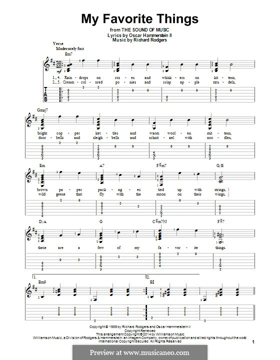 My Favorite Things (from The Sound of Music): Для гитары с табулатурой by Richard Rodgers