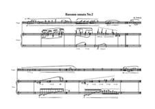 2 Sonatas for Bassoon and Piano: Соната No.2, MVWV 731 by Maurice Verheul