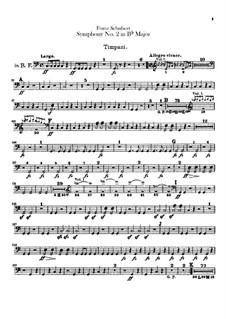 Симфония No.2 си-бемоль мажор, D.125: Партия литавр by Франц Шуберт