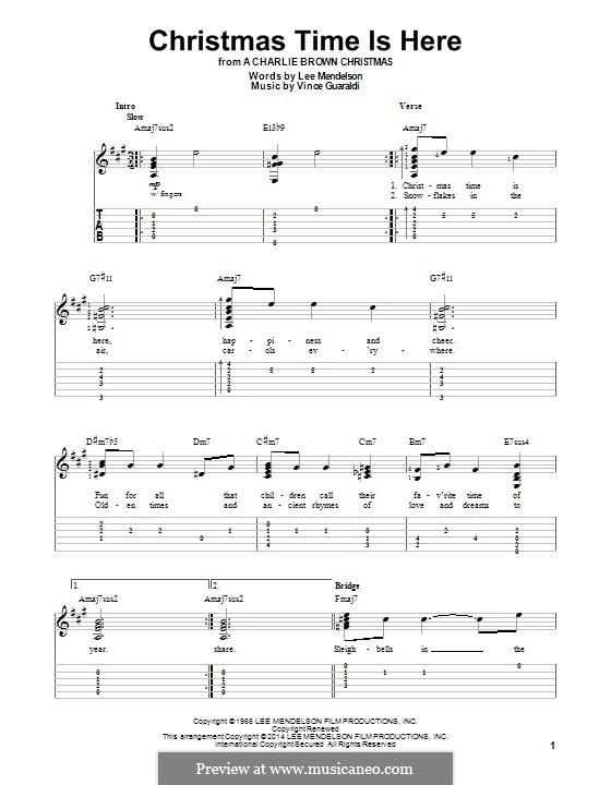 Christmas Time is Here: Для гитары с табулатурой by Vince Guaraldi