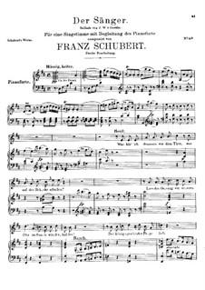 Der Sänger (The Minstrel), D.149 Op.117: Вторая версия by Франц Шуберт