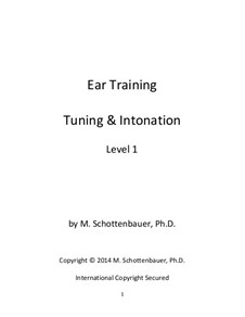 Ear Training: Tuning & Intonation: Level 1 by Michele Schottenbauer