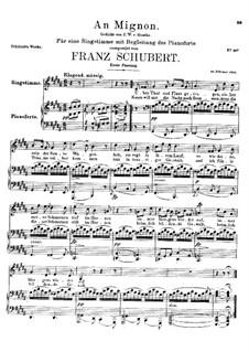 К Миньоне, D.161 Op.19 No.2: Первая версия by Франц Шуберт