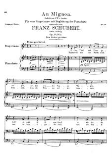К Миньоне, D.161 Op.19 No.2: Вторая версия by Франц Шуберт