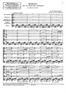 Размышление на тему Прелюдии No.1 Баха: For chamber orchestra by Шарль Гуно