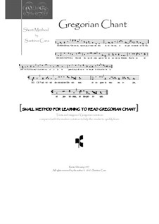 The Gregorian chant - Small Method: The Gregorian chant - Small Method by Santino Cara