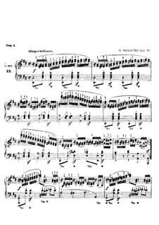 Двадцать четыре этюда для фортепиано, Op.70: No.13 by Игнац Мошелес