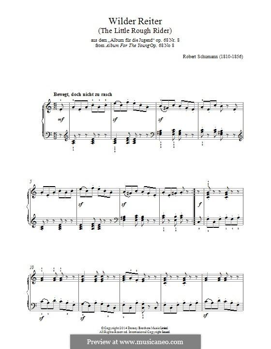 No.8 Смелый наездник: Для фортепиано by Роберт Шуман