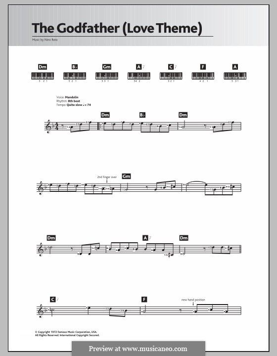 The Godfather (Love Theme): Для клавишного инструмента by Нино Рота