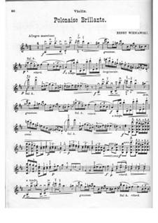 Концертный полонез для скрипки и фортепиано No.1 ре мажор, Op.4: Сольная партия by Генрик Венявский