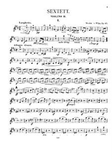 Струнный секстет, Op.27: Скрипка II by Николай фон Вильм
