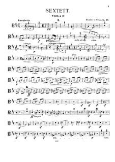 Струнный секстет, Op.27: Партия I альта by Николай фон Вильм