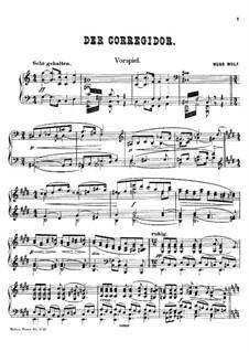 Коррегидор: Вступление, для фортепиано by Хуго Вольф