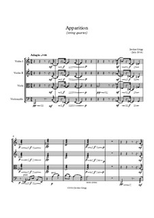 Apparition (string quartet): Apparition (string quartet) by Jordan Grigg