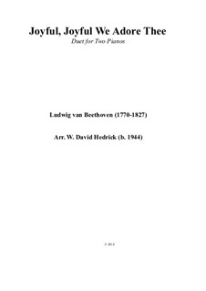 Ода к радости, для фортепиано: Duet for two pianos by Людвиг ван Бетховен