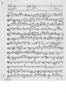 Последняя любовь, для сопрано и струнного оркестра: Оркестровые партии by Эрнст Леви