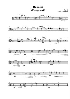 Реквием: Fragment, for string quartet – viola part by Джузеппе Верди