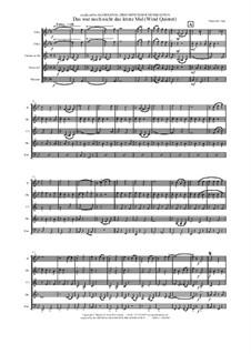Das war noch nicht das letzte Mal: For wind quintet by Thomas Hans Graf
