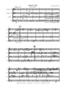 Kanon C-Dur: Для квартета медных духовых by Thomas Hans Graf