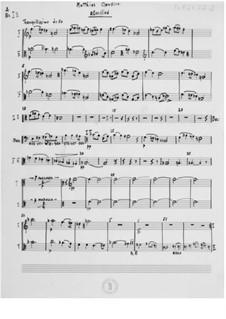 Вечерняя песня для баритона и струнного оркестра без скрипок: Оркестровые партии by Эрнст Леви