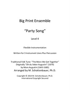 Big Print Ensemble (Level 4): Party Song for Flexible Instrumentation: Big Print Ensemble (Level 4): Party Song for Flexible Instrumentation by Marx Augustin