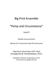 Pomp and Circumstance: For flexible instrumentation by Эдуард Элгар