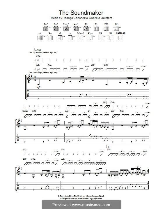 The Soundmaker: Для гитары с табулатурой by Gabriela Quintero, Rodrigo Sánchez