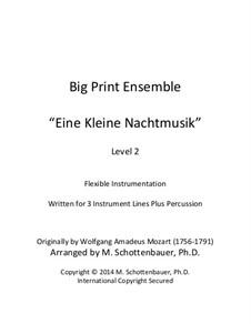 Аллегро: For flexible instrumentation by Вольфганг Амадей Моцарт