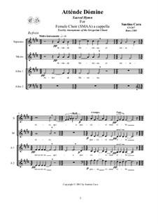 Atténde Dómine - Sacred Hymn for female choir a cappella, CS247: Atténde Dómine - Sacred Hymn for female choir a cappella by Santino Cara