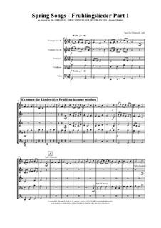 Spring Songs: Для квинтета медных духовых by folklore