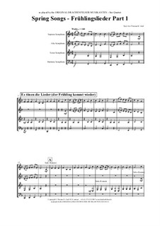 Spring Songs: For saxophone quartet by folklore