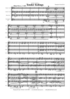 Tender feelings - Bossa Nova: For clarinet quartet by Thomas Hans Graf