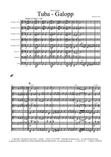 Tuba Galopp: Для квинтета медных духовых by Thomas Hans Graf