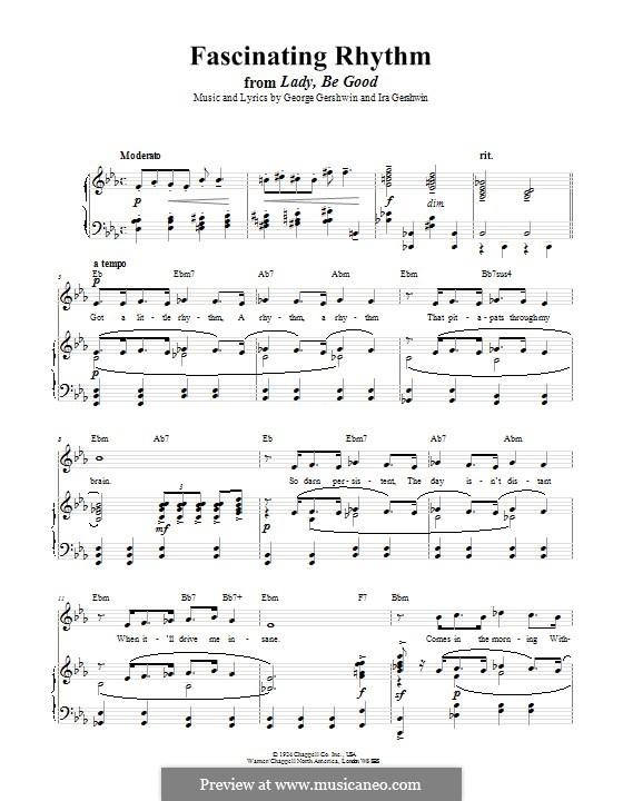 Fascinating Rhythm: Для голоса и фортепиано (или гитары) by Джордж Гершвин