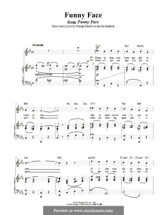Funny Face: Для голоса и фортепиано (или гитары) by Джордж Гершвин
