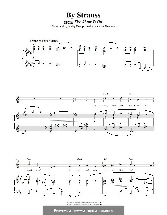 By Strauss: Для голоса и фортепиано (или гитары) by Джордж Гершвин
