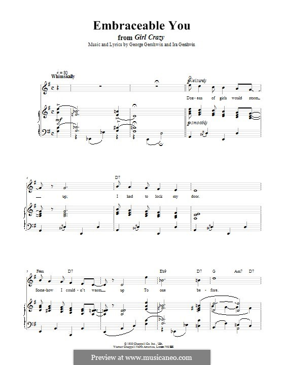 Embraceable You: Для голоса и фортепиано (или гитары) by Джордж Гершвин