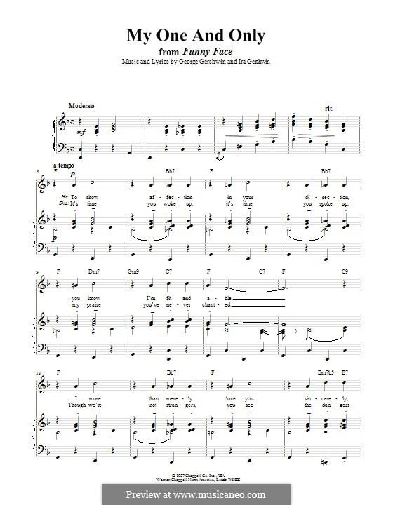 My One and Only: Для голоса и фортепиано (или гитары) by Джордж Гершвин