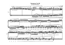 Nocturne No.20 for piano, MVWV 795: Nocturne No.20 for piano by Maurice Verheul