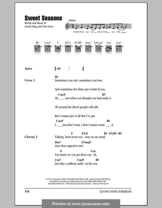 Sweet Seasons: Текст и аккорды by Toni Stern