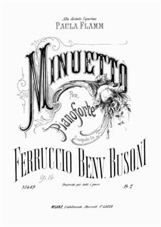 Minuetto, BV 77 Op.14: Minuetto by Ферруччо Бузони