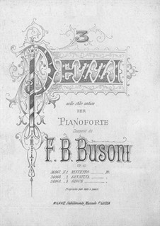 Tre Pezzi nello Stile Antico, BV 159 Op.10: No.2 Sonatina by Ферруччо Бузони