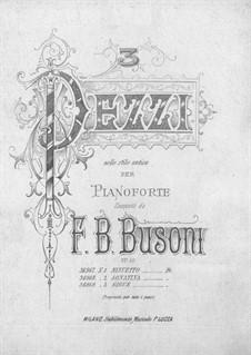 Tre Pezzi nello Stile Antico, BV 159 Op.10: No.3 Gigue by Ферруччо Бузони