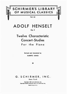 Douze études caractéristiques, Op.2: Сборник by Адольф фон Хенсельт