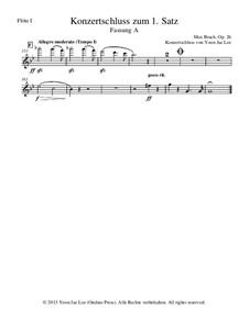Концерт для скрипки с оркестром No.1 соль минор, Op.26: Version A (by Yoon Jae Lee) – set of parts by Макс Брух