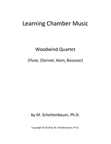 Learning Chamber Music: Woodwind quartet by Michele Schottenbauer