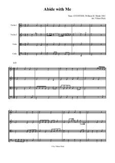 Пребудь со мной: Для струнного квартета by Уильям Генри Монк