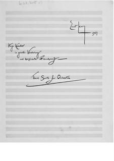 Сюита для оркестра No.3: Партитура by Эрнст Леви