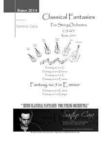 Seven Classical Fantasies for String Orchestra, CS265: Fantasy No.5 in E minor - Theme and 5 variations by Santino Cara